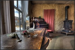 Reflections...... (LoneWolfMontana) Tags: montana bannack ghost town abandoned neglected rooms eerie canon 60d photomatix hdr