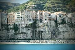 Tropea from Sea (b.montecot) Tags: tropea calabria italie italy italia mer sea patrimoine unesco tyrrhnienne