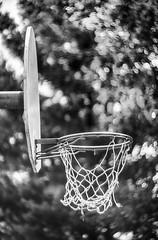 hoop dreams (kderricotte) Tags: basketball hoop goal net sonya6000 helios40285mm15 bokeh depthoffield monochrome blackandwhite swirly