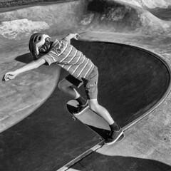 committed (Ben McLeod) Tags: bw campbell blackwhite skateboard skatepark