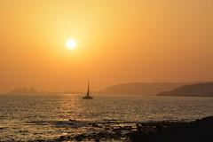 Gran Canaria sunset (brianniemantsverdriet) Tags: sun sunset photography gran canaria boat boot sea zee beach strand view uitzicht zon water nikon love buildings verte distance bergen mountains 2016 d5200 kids wave golf sailboat zeilboot lovely