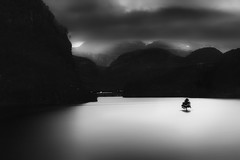 he is not surviving (gtaddei1 (ex gtaddei)) Tags: bw norway fjord longexposure le lp