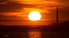 Sunset (davidyuweb) Tags: sunset large sun size sfsit luckysnapshot golden gate bridge bekeley marina