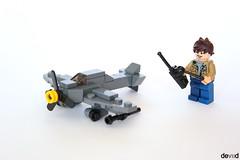 Military aircraft radio controlled (Devid VII) Tags: military mini aircraft radio controlled model moc devid devidvii air lego minifig minifigs
