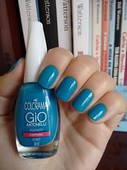 Postando - Colorama (Mari Hotz) Tags: colorama colorshowmaybelline gioantonelli azul esmalte unha