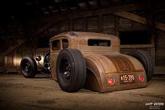 a bygone era (Cody Waters Photography) Tags: automotive automobile car cars ford modela airride bagged custom handbuilt lighting lightpainting coveredbridge night vehicle canon