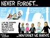 0916 911 plus 15 cartoon (DSL art and photos) Tags: editorialcartoon donlee 911 terrorism islam unity anniversary islamiccenterofgreatertoledo georgewbush waronterror brotherhood amity religion