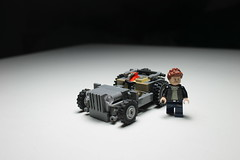Willy's Jeep Rat Rod ([C]oolcustomguy) Tags: lego willys jeep brick arms brickarms rat rod car truck wwii world war ii