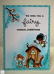 We wish you a fairy magical Christmas - Lawn Fawn (Lisa/B) Tags: lawnfawn frostyfairyfriends distressink winter christmas teal fairy winterwonderland copic stempelwunderwelt crafty cardmaking creative handmade lbcardcreations