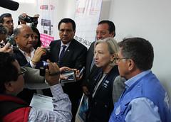PER: Visita de la Directora Adjunta de OPS a Comas para conocer avances del Proyecto OPS/KOICA para disminuir la tuberculosis en apoyo a los gobiernos locales (Pan American Health Organization PAHO) Tags: ops koica tuberculosis comas