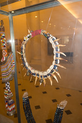 Aboriginal Iban necklace made of boar's teeth (quinet) Tags: 2015 aborigne borneo iban kuching kuchingtextilemuseum malaysia sarawak ureinwohner aboriginal native necklace