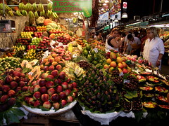 Inside the Boqueria 4 (Paol0) Tags: barcelona life travel summer people food holiday color nature fruits vegetables fruit happy fantastic spain europe colours fuji bright market finepix colourful boqueria