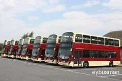 Going Home, East Yorkshire 758 - 764. (EYBusman) Tags: bus london station eclipse volvo coach yorkshire games east service motor wright olympic hull peterborough gemini services 2012 eyms b9tl yx09gwk eybusman
