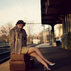 Changing My Destiny (RachelMarieSmith) Tags: portrait vintage escape dramatic luggage destiny runaway rachelmariesmith
