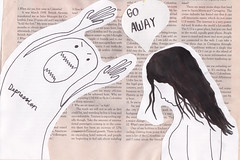 Go Away (Hopelessly.Hopeful) Tags: color art ink watercolor colorful quote quotes goaway depression staystrong