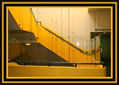 MELLOW YELLOW STAIRWAY (marsha*morningstar) Tags: chicago black lines yellow museum stairs framed steps stairway