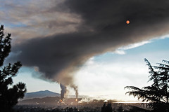 Slippin' Into Darkness (skipmoore) Tags: fire smoke richmond chevron refinery