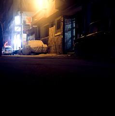 Alley (Hogarth Ferguson) Tags: film ilem cairo filem egypt alexandria egypt2012 night evening alley ektar yashica mat tlr twinlensreflex yashicamatem yashicaem square medium format dark yashinon hogarthferguson hogarth ferguson