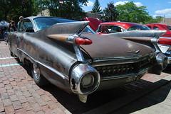 1959 Cadillac 2-door hardtop (artistmac) Tags: auto show street summer car mi back automobile outdoor michigan bricks august flint 2012 saginaw backtothebricks