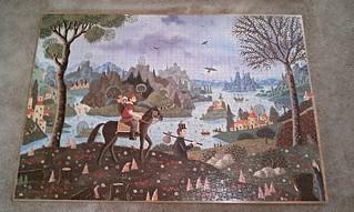 Jeux Nathan 3000 piece puzzle-Landscape with Horseman
