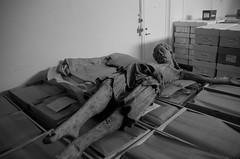 Jesus resting on some boxes (Daniel Langhammer) Tags: museum jesus visby 13thcentury medievalart medievalsculpture