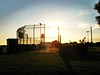 Sunset (Ai Hasu) Tags: sunset summer sun berlin nature beauty sunshine fence airport tempelhof mashaallah sportsplace