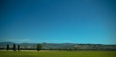 Blue & Green (The.Dark.Passenger.) Tags: blue sky mountains verde green grass alberi montagne blu hill clean campagna erba cielo campaign umbria collina terso treee
