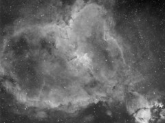 The Heart Nebula IC 1805 H-Alpha (Terry Hancock www.downunderobservatory.com) Tags: camera sky monochrome night stars photography mono pier back backyard fotografie heart photos thomas space shed band science images astro apo m observatory telescope nebula astronomy imaging ccd universe narrow cosmos palette paramount hubble luminance hst the lodestar sii teleskop astronomie byo cassiopeia oiii refractor deepsky f55 halpha astrograph ic1805 autoguider starlightxpress Astrometrydotnet:status=solved Astrometrydotnet:version=14400 tmb92ss mks4000 qhy9m sh2190 gt110s Astrometrydotnet:id=alpha20120979150239