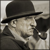 Fixated (Cathy F..) Tags: old portrait man sepia pipe smoker gaze pipesmoker greatdorsetsteamfair gdsf fixared