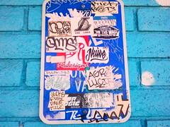 Slaps.. (MR. NIC GUY ^.^) Tags: california streetart ny art wall graffiti losangeles los angeles stickers culture rick bleak beets naive gn daer liner on agro kilz kog fusy 497 vecks versuz lucif