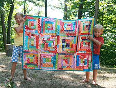 100 Quilts for Kids (Fresh Lemons : Faith) Tags: charityquilt modernquilt quiltingbee scrappyquilt straightlinequilting beequilt 100quiltsforkids