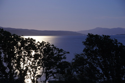 Moonlight over the Sound of Mull