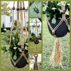 Pizza!Pizza! (Macramaking- Natural Macrame Plant Hangers) Tags: new autumn music plants brown plant green fall kitchen coffee hippies beads pretty natural herbs gardening handmade chocolate oneofakind character cottage creative craft style peaceful northcarolina funky retro september pizza nostalgia hammock americana espresso fengshui chic 1970s boho planter groovy hang caff bohemian homedecor hanger macrame fibers earthday madeinusa reborn ecofriendly accessory conversationpiece hangingbasket pizzapizza bohochic containergardening macram planthanger squareknot hangingplanter macramebeads decorativeknotting macrameplanthanger macramakin macramaking httpwwwetsycomshopmacramaking macramecord macrammacramaking macracord naturaljute macrametechnique macramehangingbasket macrameweaving macramelove