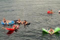 Lake Floaties (Canadian Veggie) Tags: lake water houseboat bikini floaties houseboating shuswap shuswaplake