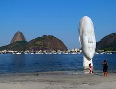 The Awilda  sculpture at Botafogo Beach, Rio de Janeiro. (Carlos Vieira.) Tags: sculpture riodejaneiro colours sugarloaf botafogobeach awilda