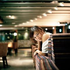 (Da✞a) Tags: portrait girl bokeh cc even rolleiflex28f zeissplanar80mmf28 kodakportra400 nikoncoolscan9000ed kodakinfujigroup