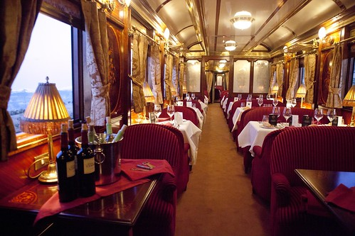 Al Andalus luxury train - dining car