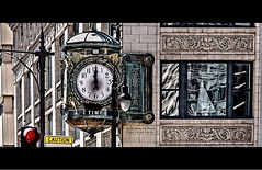Time, Life & Caution (Far & Away (On assigment, mostly off)) Tags: life city light usa chicago clock architecture america hope illinois united unitedstatesofamerica north windy caution future states signal estadosunidos eeuu