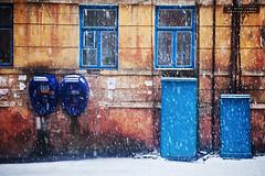 In blue (Alimkin) Tags: город зима телефоны краматорск аппараты донецкаяобласть украинаukraine краматорскkramatorsk донецкаяобластьdonetskregion телефонные шкадинова
