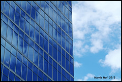 I Love Clouds - Waterfront Centre 8717e (Harris Hui (in search of light)) Tags: blue window