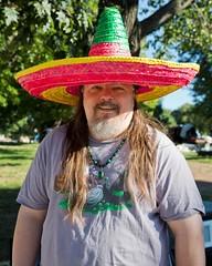 Fun Guy (Cheryl Atkins) Tags: portrait fun funny sombrero witty pattersonparkfleamarket
