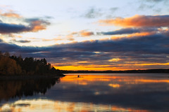 A lovely evening (Barry_Madden) Tags: autumn sunset lake clouds suomi finland fisherman cities lakeside lappeenranta treees saimaa southkarelia