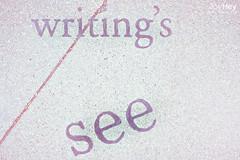 Writing's See (JoyHey) Tags: street cute art vintage word happy photography soft sweet pastel text joy dream retro asphalt joyhey