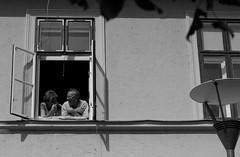 (19/50) (gyerage) Tags: street bw window couple 50 5050 ff pcs canon50mm18 pr project50 pcscitykarnevl