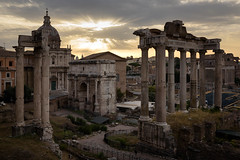 Sunrise on Imperial fora (luca.onnis) Tags: lucaonnis photography roma rome imperialfora fori imperiali sunrise ruins columns clouds raylights