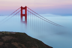 Golden Gate Fog (Nirav T.) Tags: gate bridge san francisco california fog clouds sunset landscape slacker hill marin golden