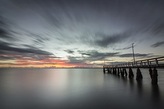 Wellington Point Jetty (JakaPH Photography) Tags: landscape seascape wellington point queensland australia dawn sunrise clouds long exposure morning jetty water sea movement