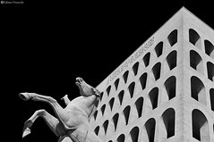 """Modern Coliseum"" (fab's_photos) Tags: roma rome italia italy moderno modern colosseo coliseum bw biancoenero nikond2x zeiss25zf distagon2528zf"