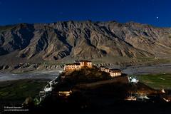 Key Monastery, Himachal Pradesh (Bharat Baswani) Tags: key kee ki monastery gonpa gompa temple buddhism buddhist spiti valley himachal pradesh night astro stars mountains himalayas hilltop barren oasis