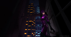 Catwoman in the City (cat-tales) Tags: catwoman purplecatwoman balentcatwoman gothamcity gothamcitystories gothamafterdark cityscape gotham catburglar sexycatburglar claws mask selinakyle cityscapenight gothamnight catwomanprowling